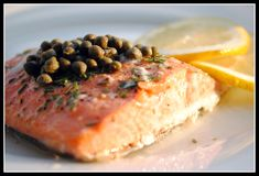 THM (S) salmon with rosemary, capers & lemon