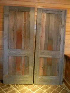 Reclaimed Faded Red Barnwood Interior Doors (no finish)
