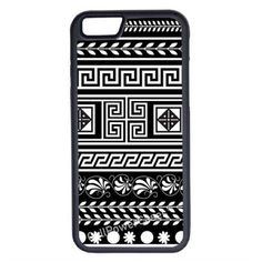 CellPowerCasesTM Black Tribal Pattern iPhone 6 (4.7) V1 Black Case (13 CAD) ❤ liked on Polyvore featuring accessories, tech accessories and black