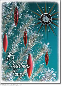 Vintage Christmas Cards with nostalgic designs inspired by the 1950s and 1960s, mid century modern design, antiques and memorabilia. Shop online, shipped to your door!