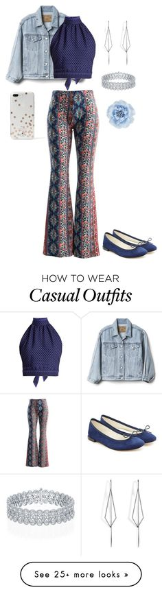 """""""Dressy Casual"""" by artisticstyler on Polyvore featuring Gap, Fashionomics, CECILIE Copenhagen, Repetto, Diane Kordas, Monsoon and Kate Spade"""