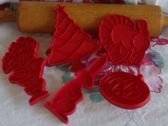 Tupperware Vintage Collectible Cookies Cutters - Set of 5. $6.00, via Etsy.