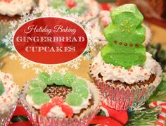 Holiday Baking Ideas: Gingerbread Cupcakes #HolidayAdvantEdge #Ad #CollectiveBias #GetYourBettyOn