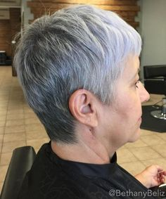 50 Gray Hair Styles Trending in 2020 Ready to rock your gray locks? Check out these incredibly stunning 50 hairstyles for gray hair you will want to show to your stylist! Short Silver Hair, Short Grey Hair, Short Hair Cuts, Gray Hair Women, Curly Short, Pixie Cuts, Black Women, Short Pixie Haircuts, Cute Hairstyles For Short Hair