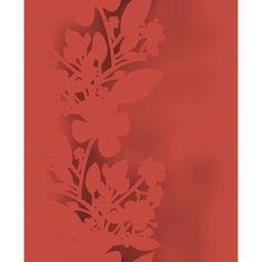 Elitis XXL Ombres Wallpaper ($240) ❤ liked on Polyvore featuring home, home decor, wallpaper, red, red stripe wallpaper, flower stems, red home decor, stripe wallpaper and floral wallpaper