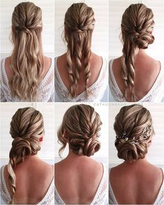 Boho Updo Hairstyles, Updo Hairstyles Tutorials, Wedding Hairstyles Tutorial, Simple Wedding Hairstyles, Classic Hairstyles, Bridesmaids Hairstyles, Easy Hair Tutorials, Easy Prom Hairstyles, Step By Step Hairstyles