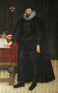 """Sir William Paddy"", Marcus Gheeraerts the younger, 1600; Oxford College Anon II HM16"