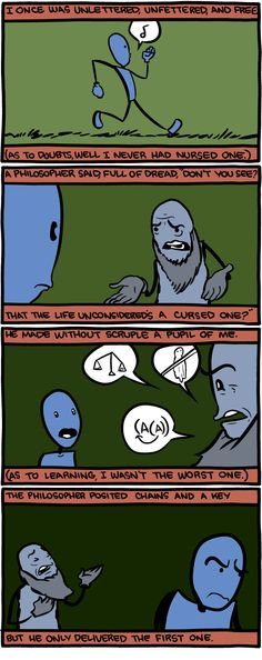 The philosopher posited chains and a key - Saturday Morning Breakfast Cereal