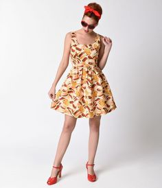 Time for a trip to the burger shack, dolls! This skater style dress is complete…