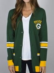Junk Food Clothing - NFL Green Bay Packers Unisex Intarsia Cardigan