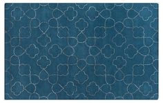 One Kings Lane - Rugs by Room - Candace Rug, Marine Blue