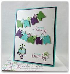 Hip Hip Hooray! Endless Birthday Wishes, Banner Punch, Small Star Punch, Rhinestones, blendabilities, blender pen