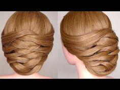 Weaving Bridal Updo Hair Tutorial - YouTube