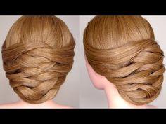 Weaving Bridal Updo Hair Tutorial - YouTube