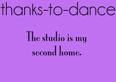 Thanks to dance..