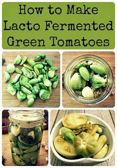 Fermented Green Tomatoes Recipe