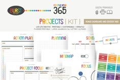 Printable Planner Projects { kit } by Jacqui E Smith on Creative Market