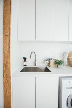 Bathroom Sink Cabinet Small Laundry Rooms 67 Ideas For 2019 Laundry Nook, Small Laundry Rooms, Laundry Room Organization, Laundry Storage, Laundry In Bathroom, Closet Storage, Bathroom Sets, Laundry Cupboard, Storage Room
