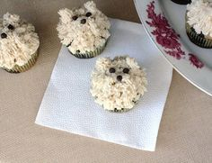 Cupcakes decorated as puppies!