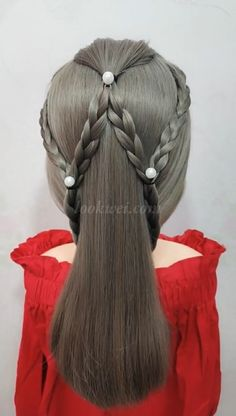 Simple Braided Hair Style idea – beleza is porto Box Braids Hairstyles, Girl Hairstyles, Short Hair With Layers, Trending Hairstyles, Hair Upstyles, Hair Videos, Hair Trends, Curly Hair Styles, Hair Cuts
