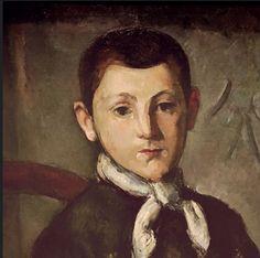 Paul Cezanne -Portrait Louis Guillaume  (Detail)  c.1882  #cezanne #paintings #art