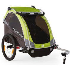 Burley D'Lite Premium 1 or 2 Kids Child Bike Bicycle Trailer Wagon Green New