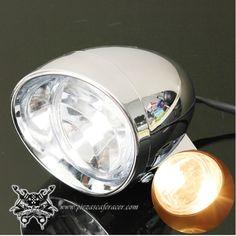 "9,16€ - ENVÍO GRATIS - Faro Universal Modelo ""Classic"" Para Moto 12V DC Harley Yamaha Suzuki"