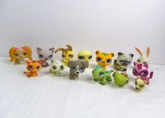 Hasbro Littlest Pet Shop Pets Lot of 14 Dog Cat Lizard Turtle Raccoon and More #Hasbro