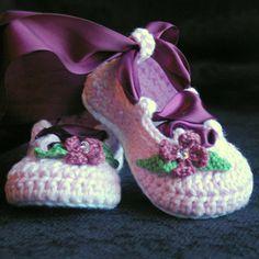 Crochet Baby Pattern Ballerina Ballet booties