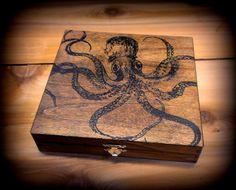 Octopus Screen Printed 8.125 x 8.375 x 1.875  by CapGunConsortium