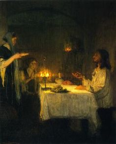 Henry Ossawa Tanner, Christ at the Home of Mary and Martha , 1905, oil on canvas, Carnegie Museum of Art - Pittsburgh, PA