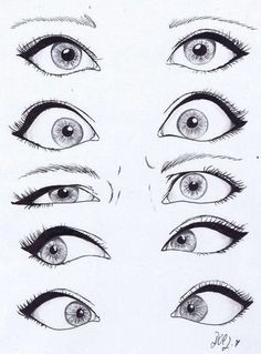 How to draw anime eyes. I think this really helps a lot with eye expressions!