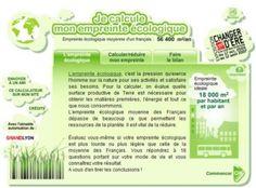 calcul empreinte écologique, oct. 2009