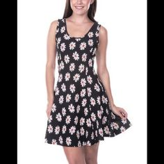 Daisy Fit And Flare Tank Skater Dress