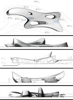 A Cultural Centre by Zaha Hadid Architects Regium Coast