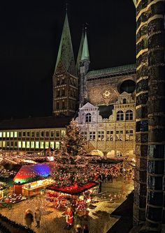 Weihnachtsmarkt in Lübeck - Bild & Foto von Beate Zoellner aus Weihnachtskarten