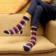 ae410f319d94 1Pair Autumn Winter Men Socks Art Classic Hip Hop Sock Funny Novelty Socks  with Print Plaid Men Fashion Meias Chaussette Homme