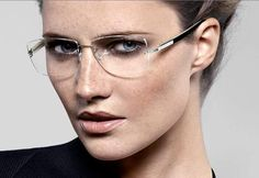 lindberg eye glasses styles for women Glasses For Oval Faces, Cool Glasses, New Glasses, Glasses Frames, Glasses Sun, Glasses Eye Makeup, Fashion Eye Glasses, Rimless Glasses, Rimless Frames