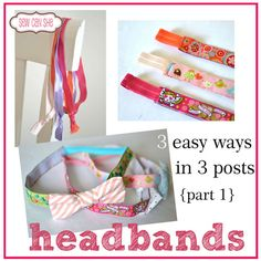 headbands! - 3 easy ways {part 1} — Sew Can She | Free Daily Sewing Tutorials
