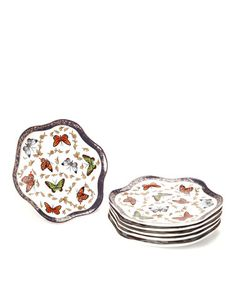 Take a look at this Butterfly Dessert Plate - Set of Six by Yedi Houseware on #zulily today!  $29 !!