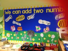 I love the idea of painting addition sums! Reception Class, Eyfs, Display Ideas, Maths, Teaching Resources, Classroom Ideas, School, Painting, Painting Art