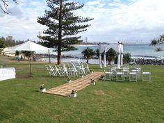 Beautiful Saturday morning for the wedding ceremony of Rylee & Shelford 20/09/2014 Burleigh Heads Styling by www.breezeweddings.com.au #burleighheadswedding #burleighpoint #weddinggoldcoast #breezeweddingsaustralia