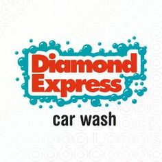 Diamond Express Car Wash logo, on sale for $350 at stocklogos.com