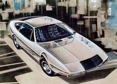 1971, projet de coupé Volvo réalisé par Coggiola. Sergio Coggiola travailla pour Frua après guerre et apprit son métier à son contact, avant de fonder sa propres entreprise quelques années plus tard