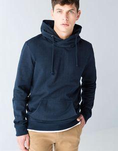 Bershka United Kingdom -Hood and funnel collar sweatshirt
