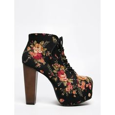 ROSA-S Bootie ($34) ❤ liked on Polyvore featuring shoes, boots, ankle booties, heels, multi, tall boots, heeled booties, lace ankle boots, chunky-heel ankle boots and square toe boots