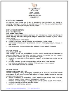 example of restaurant resume Sample Template of an Excellent Restaurant Manager Resume Example .