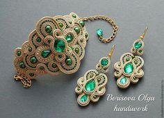 Soutache Bracelet, Soutache Jewelry, Bracelet Set, Beaded Earrings, Beaded Bracelets, Jewelry Crafts, Handmade Jewelry, Cheap Bags, Bead Crochet