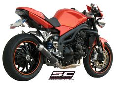 GP-EVO Low Mount Silencer for the Triumph Speed Triple. Triumph Speed Triple 1050, Motorcycle Exhaust, Exhausted, Projects, Log Projects