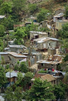 """Shanty town Montego Bay. Sweet as it is, """"the dut e tough """"for most of the people. Poverty is real - and what are we going to do about it?"""